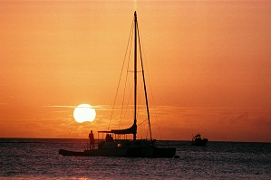 sunset cartamaran cruisedfr barbados