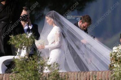 kim kardashian wedding pic
