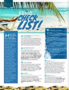 beach day check list half